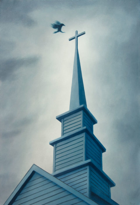 stephen perry artist church steeple crow