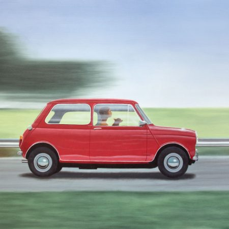 cooper mini, car stephen perry artist