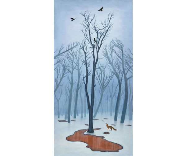 fox crows forest